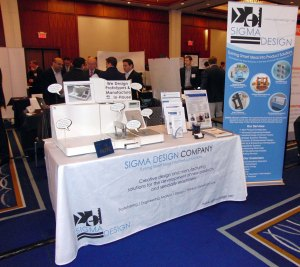 Sigma's exhibit table at the NJTC Venture Conference.